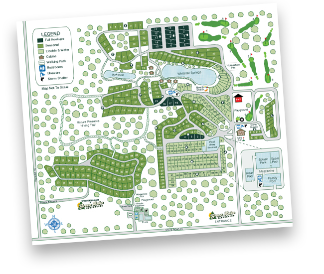 Green Lake Campground Map